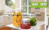 Préserver le verre Jar Jar avec clip de stockage de couvercle de fermeture