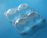 Appleのための使い捨て可能なプラスチックフルーツの包装の容器2部分