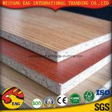placa de partícula de madeira /Flakeboard da melamina da grão de 12mm /Chipboard