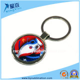 Keyring em branco do Sublimation de Keychain do metal redondo