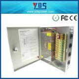 alimentazione elettrica della macchina fotografica del CCTV della cassa del metallo di CC 12V 120W di 9CH 10A