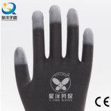 Luvas revestidas reforçadas dedo da segurança do plutônio
