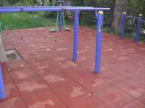 Mattonelle di pavimentazione di gomma di collegamento di vendita calda