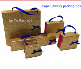 Jy-Jb99金のボール紙のペーパーギフトの宝石類一定ボックス卸売