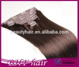 Virgin Remy 인도 Hair Extensions에 있는 자연적인 Brownunprocessed 7A Clip