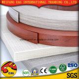 Borda de borda de madeira do PVC da cor da grão/da cor azul vermelho com boa qualidade