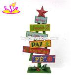 Venda por grosso de madeira de forma árvore personalizar as decorações de férias para venda W09d042