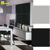 Nano Polish Blanco Porcelin vitrificado piso de baldosas para el negro