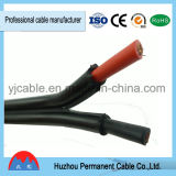 Double Câble sous gaine en polyéthylène réticulé câble PV solaire souple pour UL&approuvés TUV