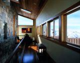 Kundenspezifisches Größen-plattiertes festes Holz-gleitenes Aluminiumfenster, hölzernes schiebendes Rahmen-Aluminiumfenster durch Wooden Aluminium Window Company
