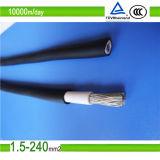 Condutor de cobre estacado PV1-F Xlpo isolante e cabo solar de bainha