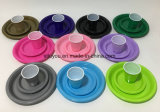 Plat en plastique coloré