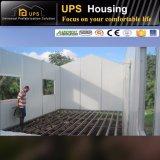 Suelo doble/casa prefabricada económica llana con Windows y las puertas