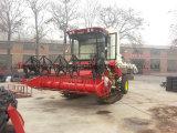 Tipo de oruga de la gran máquina cosechadora de arroz con un gran depósito de grano