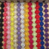 고전적인 다채로운 해바라기 수용성 자수 레이스