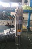 Bomba bien profunda sumergible inoxidable 0.75kw/1HP del acero 4nk