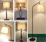 PF0010-01 lámpara de suelo del diseño E27/E26 con la cortina de la tela para la iluminación casera