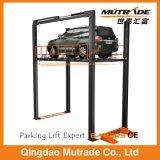 Четыре должности этажа на этаж вертикального подъема Hudraulic автомобиля