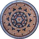 Suelo de mármol redondo medallón de chorro de agua