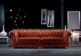 Современный кожаный чехол классический ткань возлежащий диван-кровать стул Домашняя мебель