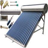Calentador de agua solar de energía solar de alta presión/a presión del tubo de vacío del colector solar del sistema de calefacción del calentador de agua caliente del acero inoxidable