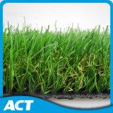 W-Form Landschaftskünstliches Gras für Hauptgarten-Gras der dekoration-35mm