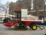 Grand type de chenille machine de moissonneuse de riz avec le grand réservoir des graines