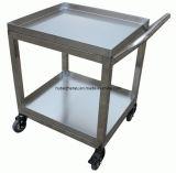 Chariot en acier inoxydable Panier Barrow estampage Double-Deck universel de soudage de flexion du matériel de laboratoire de roue