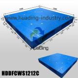 Palette en plastique empilable lourde 1200X1200X150mm avec le paquet fermé