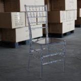 Cadeira desobstruída de Chiavari da mobília do casamento da resina do PC