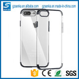 Neuf plaquer la caisse bon marché transparente ultra mince de couverture de téléphone cellulaire de TPU pour l'iPhone 7