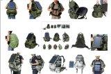 Zak van het Patroon van de camouflage de Militaire Zonne, de ZonneZak van het Leger