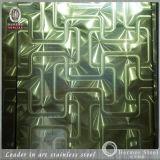 feuille de polissage modelée 201 par 304 d'acier inoxydable de laser pour le cercle CD