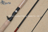 Pesca Rod fatta a mano del pezzo fuso di esca del carbonio di qualità superiore