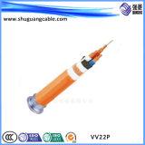 Câble d'alimentation protégé blindé isolé et engainé de PVC de faisceaux de VV22p 4 de bande en acier