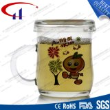 240ml decaled Glass taza de té de Promoción (CHM8093)