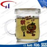 tazza di tè di vetro di 240ml Decaled per la promozione (CHM8093)