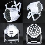 Weißes oder schwarzes 18*10W RGBW 4in1 oder Rgbwau 6in1 Aluminiumstadiums-Hochzeit LED NENNWERT Licht