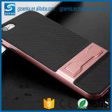 Caso de Kickstand del teléfono de la fibra del carbón para la cubierta del borde de la galaxia S7/S7 de Samsung
