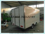 Gas BBQ Food Truck Display Vente de nourriture Car Canteen Mobile Cart