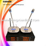 GS8008専門の無線マイクロフォンの会議システム