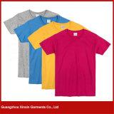 Camisas unisex da planície redonda por atacado T da garganta (R91)