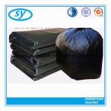 Couleur d'espace libre d'ordures de HDPE/LDPE et sacs plats en plastique noirs énormes