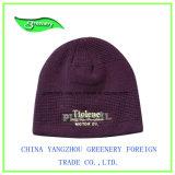 2017黒い刺繍の冬の帽子の帽子