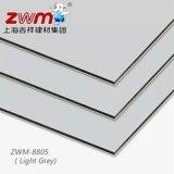 Comitato grigio-chiaro del composto dell'Materiale-Alluminio della costruzione del rivestimento del poliestere