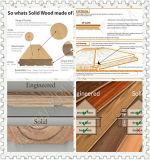 Suelo dirigido de madera del tratamiento químico del suelo del tablón ancho del roble