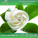 100% naturel extrait de fleur de Cape Jasmine (Geniposide 5%~98 %, 4 : 1~20 : 1)