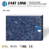 Pierre Polished de pétillement de quartz de bleu pour les brames/dessus en pierre conçus en gros de vanité