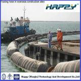 Boyau de dragage de flottement de marine en caoutchouc flexible de débit