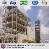 Estructura del marco de acero para la planta de tratamiento industrial